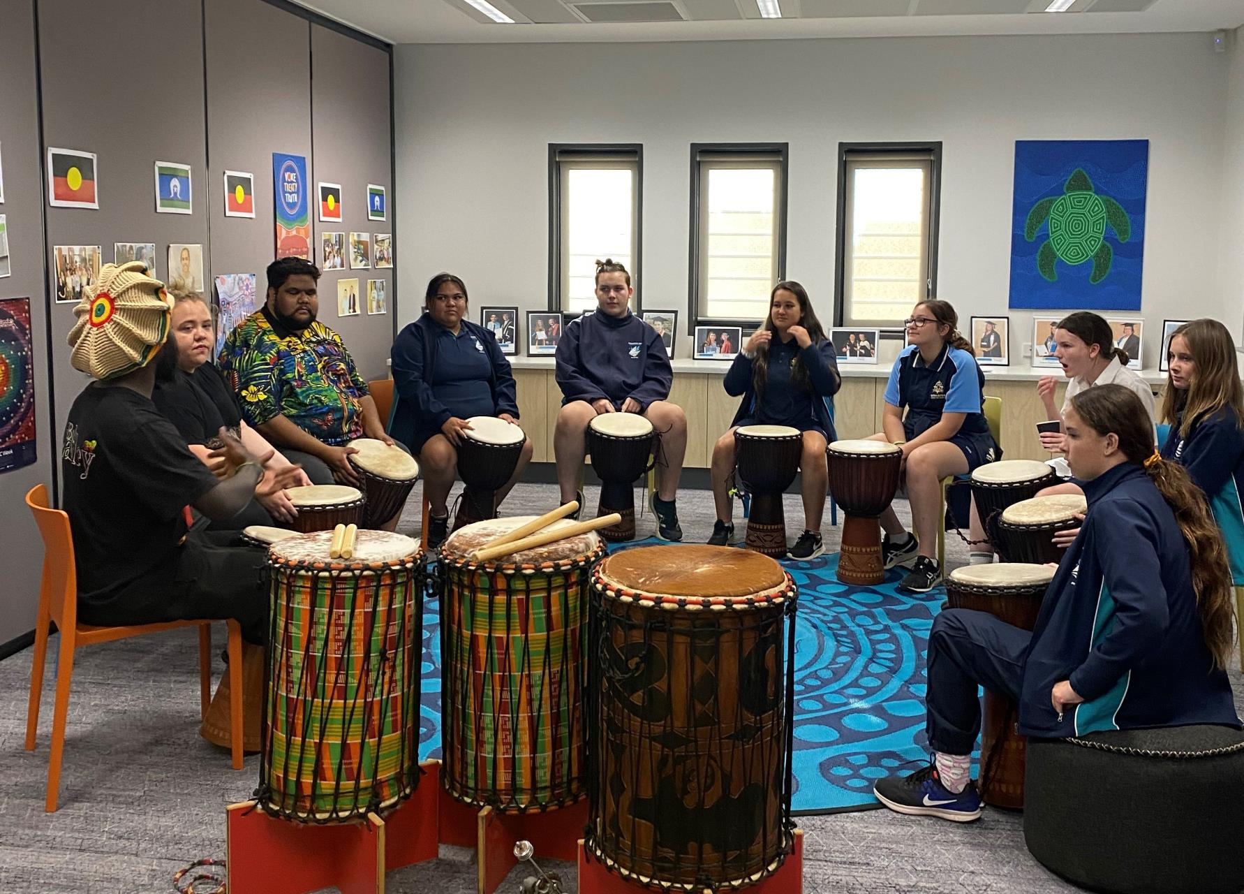 TIS delivers Drum Beat at Geraldton Universities Centre open day