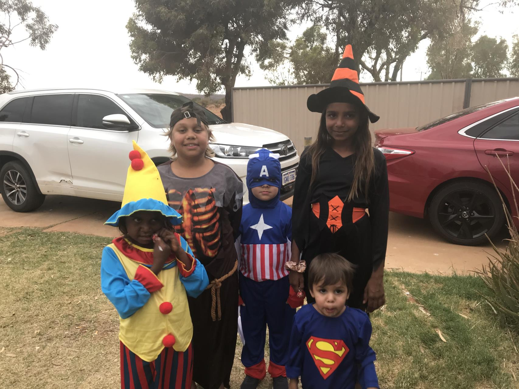 GRAMS awards scariest costume at Yalgoo Halloween Parade